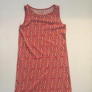 a orange dress